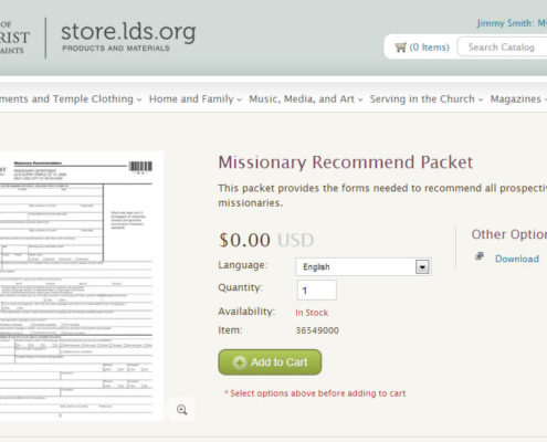 missionary-recommend-packet-at-LDS-Store