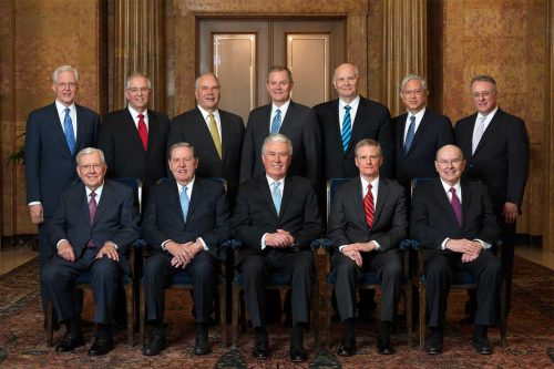 LDS Quorum of 12 Apostles April 2018
