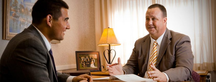 young man interview with bishop priesthood leader