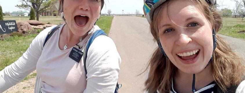 danielle smith riding bike mission oklahoma april 2018