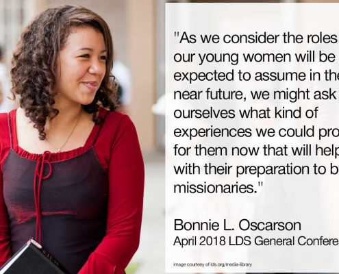 roles that our young women will be expected to assume