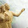 Statue of Adam and Eve in the Garden of Eden