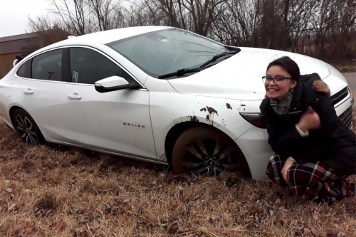 sister missionary car stuck in mud