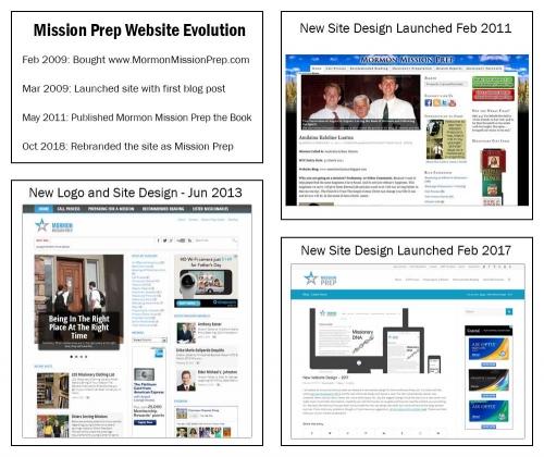 10 years of mission prep site design evolution